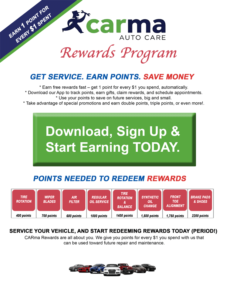 CARma Auto Care now offers a Rewards Progam!